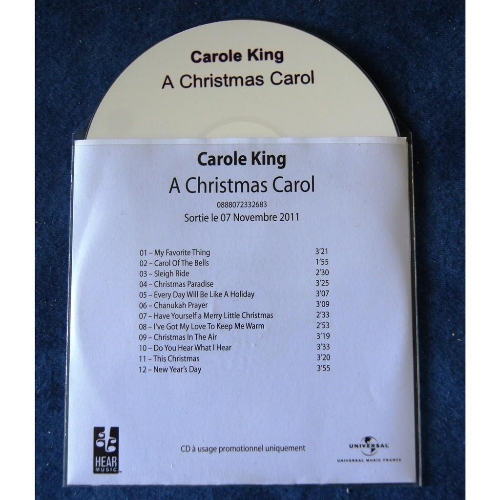 carole king A CHRISTMAS CAROL / PROMO