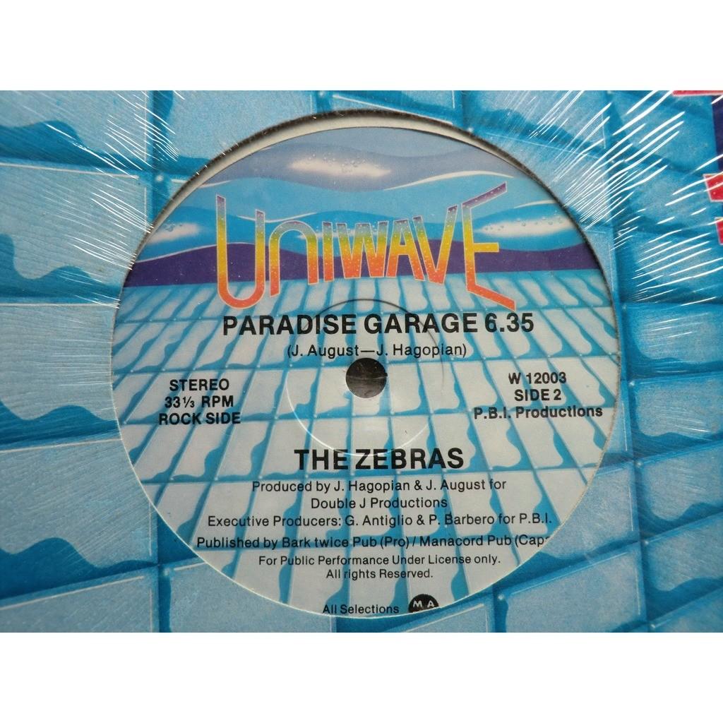 The ZEBRAS Paradise Garage (Canadian original press - rare Mini 33 RPM format - 2 Titles - 1978)