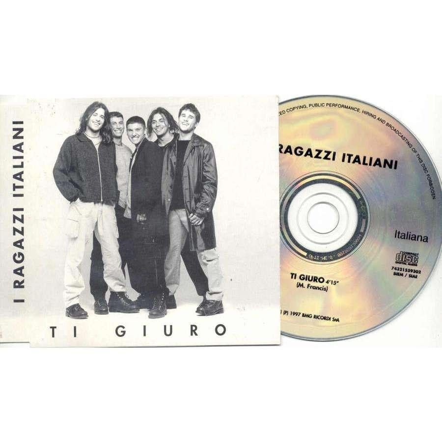 I Ragazzi Italiani Ti Giuro (Italian 1997 1-trk promo CD unique ps)