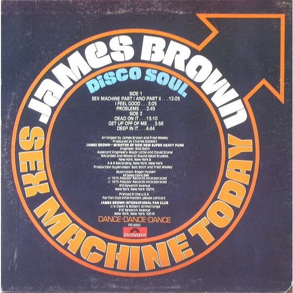 James BROWN Sex Machine Today (rare USA press - 1975 - Cut on left top - Record in great conditions)