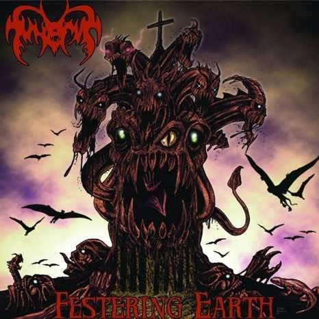 FUNERUS Festering Earth. Purple Vinyl
