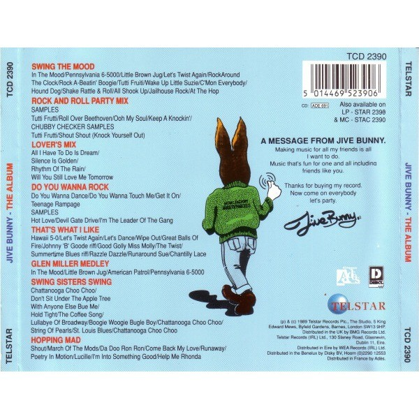 Jive Bunny The Album By Jive Bunny And The Mastermixers