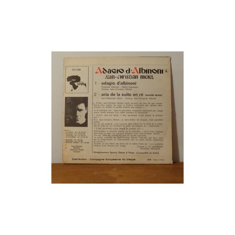 jean christian Michel Adagio d'Albinoni / Aria de la suite en ré