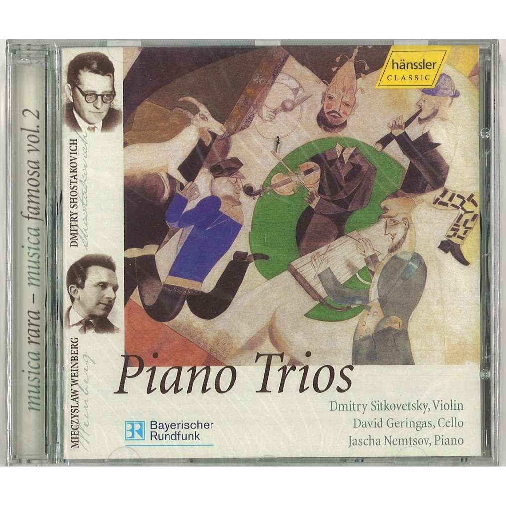 WEINBERG - SHOSTAKOVICH - WEPRIK Piano Trios Dmitry SITKOVTSKY David GERINGAS Jascha NEMTSOV