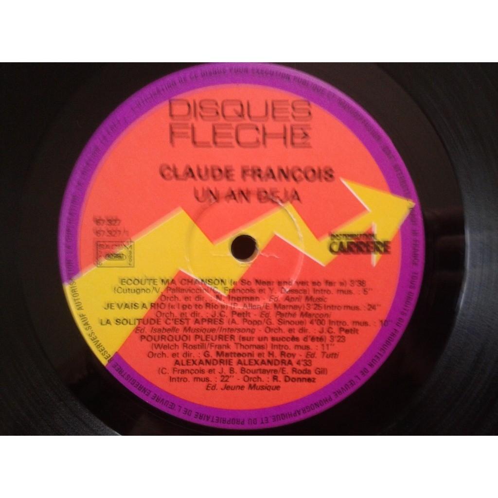 Claude François Souvenir Vol. 3 Un An Déjà