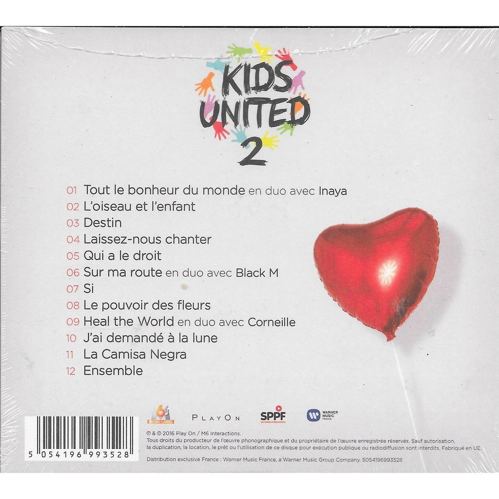 tout le bonheur du monde by kids united 2 cd with. Black Bedroom Furniture Sets. Home Design Ideas