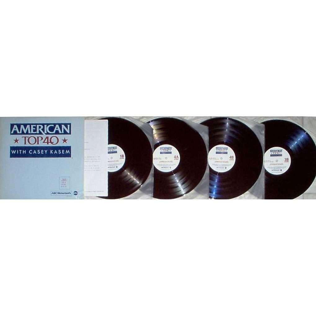 A-Ha american top 40 program No.853-9 (usa 1985 promo 'abc' 4lp TRASLUCENT BROWN wax radio show ps+cues)