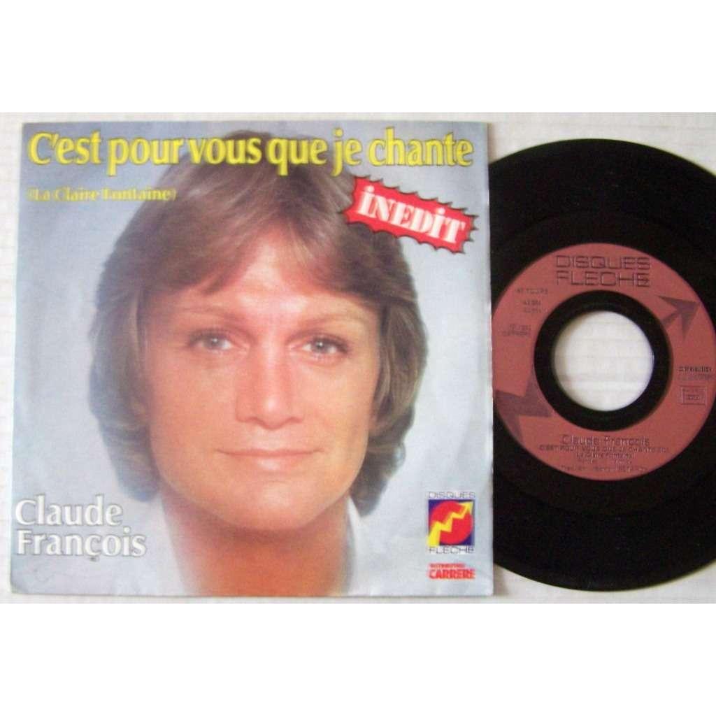 claude françois SP disque flèche / C'est pour vous que je chante