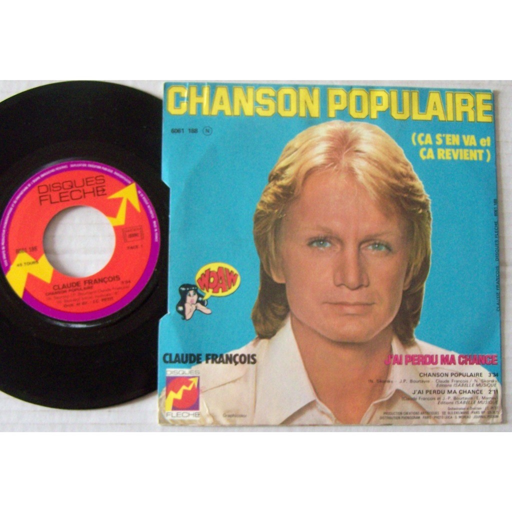 claude françois SP disque flèche / Chanson populaire