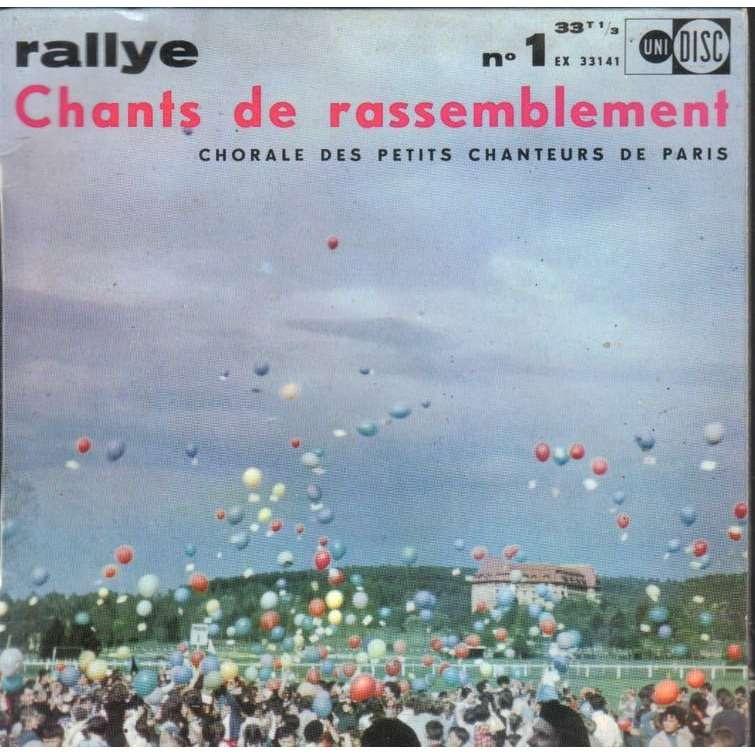 LES PETITS CHANTEURS DE PARIS Rallye N.1 (avec livret et tablatures)