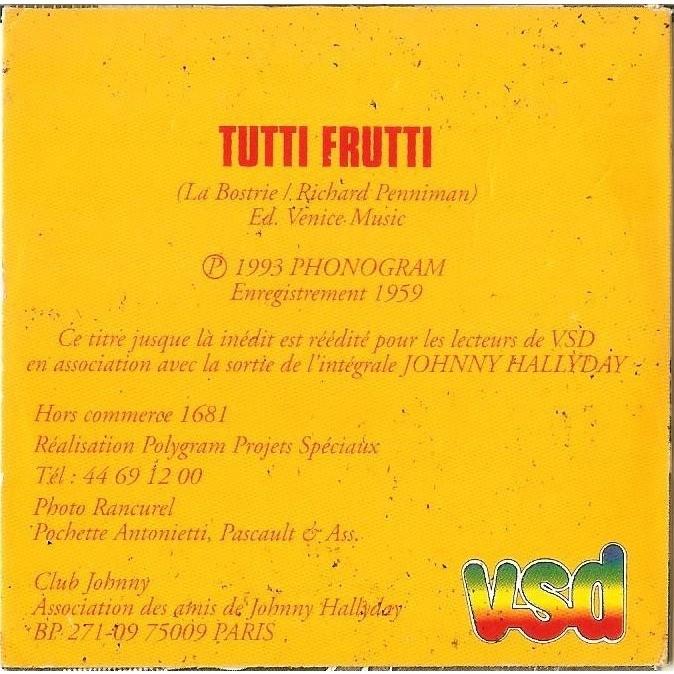 Johnny Hallyday Tutti Frutti