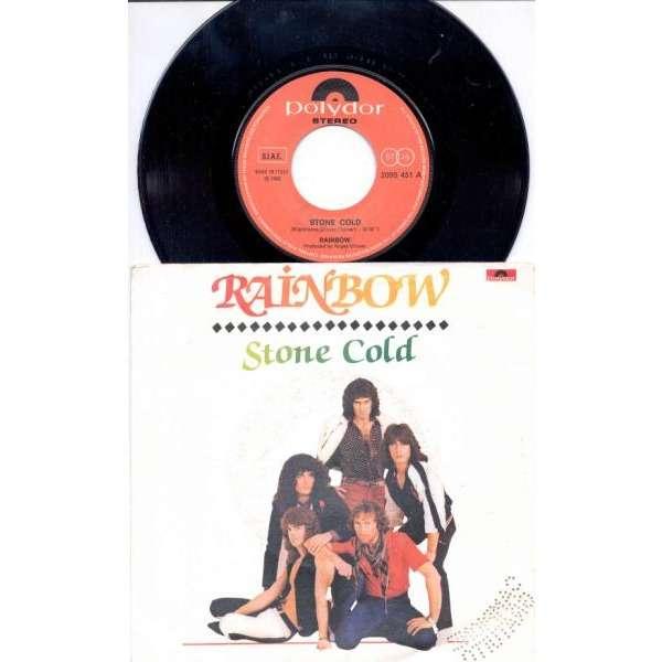 Deep Purple / Rainbow Stone Cold (Italian 1982 2-trk promo 7single full unique ps)