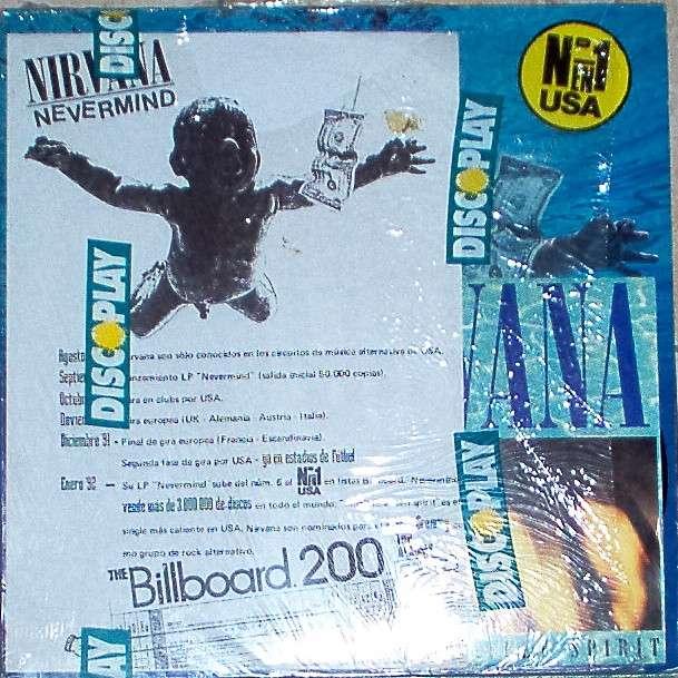 Nirvana Nevermind Spanish 1991 Promo Press Kit LP 12ep 7single Poster
