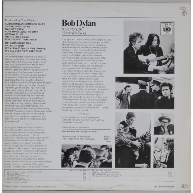 BOB DYLAN Subterranean homesick blues