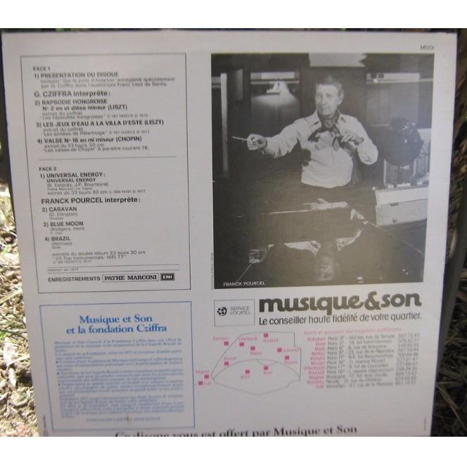 cziffra / pourcel edition speciale pour l'inauguration de musique et son