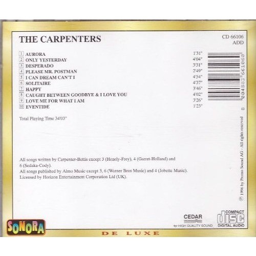 Only yesterday by The Carpenters, CD with minkocitron