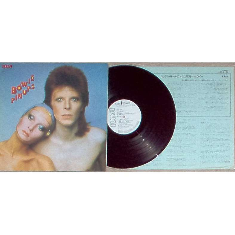 David Bowie Pinups (Japan 1974 Ltd 12-trk w/label LP promo unique gf ps+insert!!)