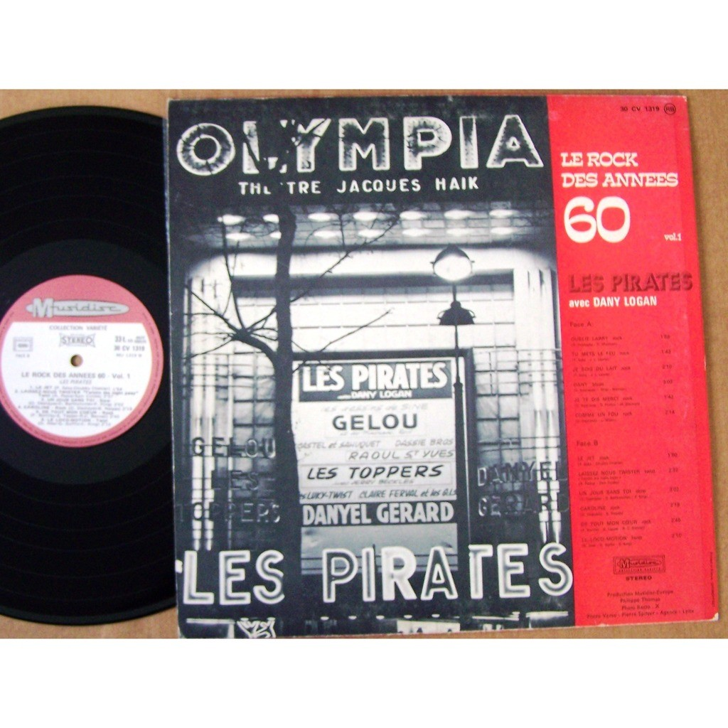 le rock des ann u00e9e 60 by les pirates vol 1  lp with