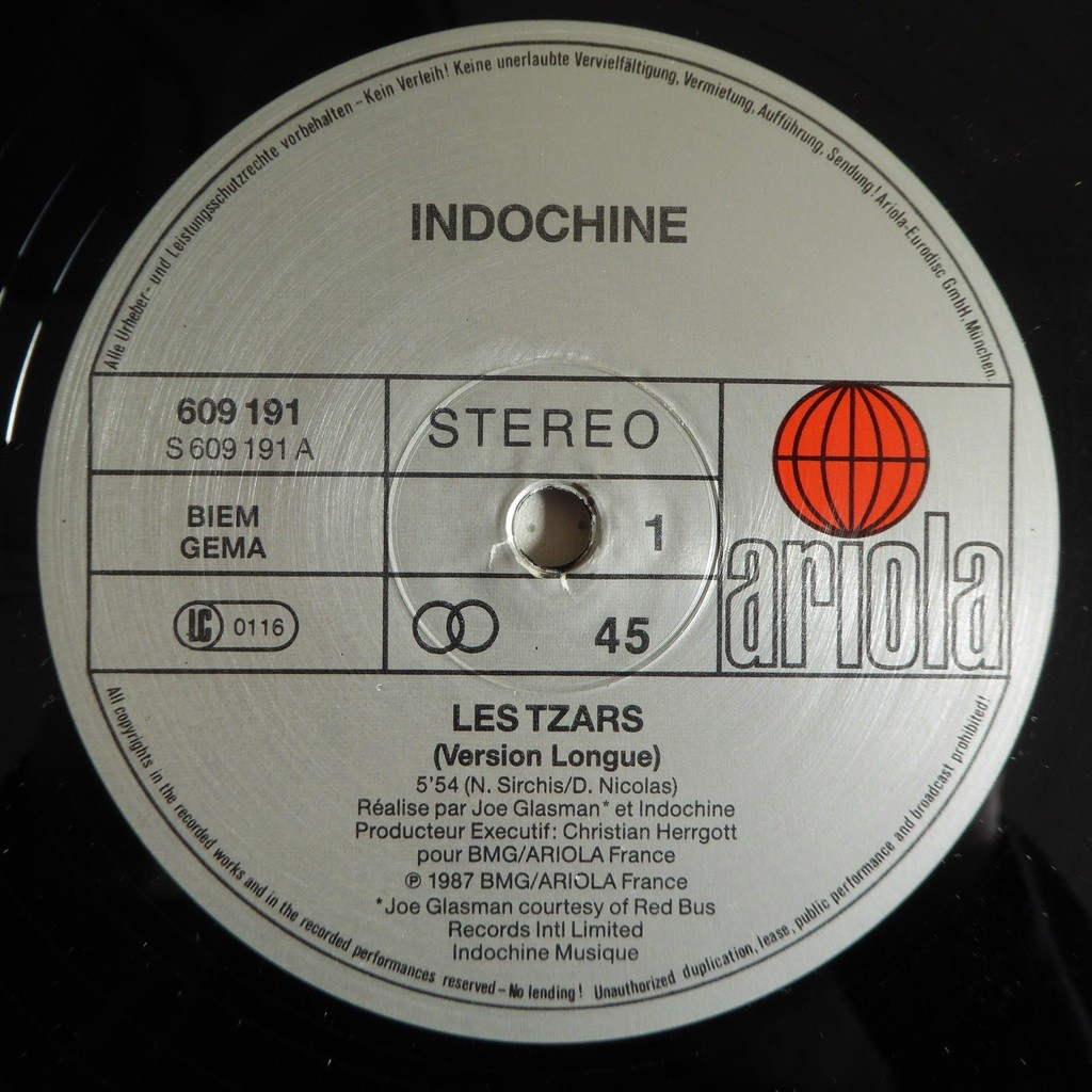 indochine Les Tzars (Version Longue)