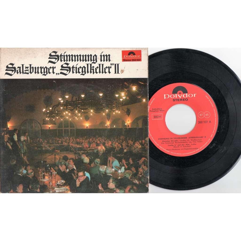 Stimmung Im Salzburger Stieglkeller II (Austria 1967 original 4-trk 7ep on Polydor lbl laminated ps)