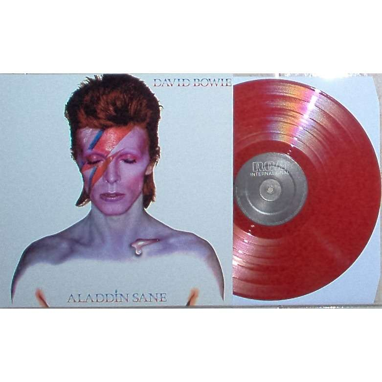 David Bowie Aladdin Sane (Holland Ltd re 10-trk LP RED vinyl full single not gf ps)