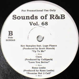 Sounds of r&b vol  68 by Michael Jackson, Ciara, Ryan Leslie, Amerie, 12  inch x 1 with cutmastersrecords