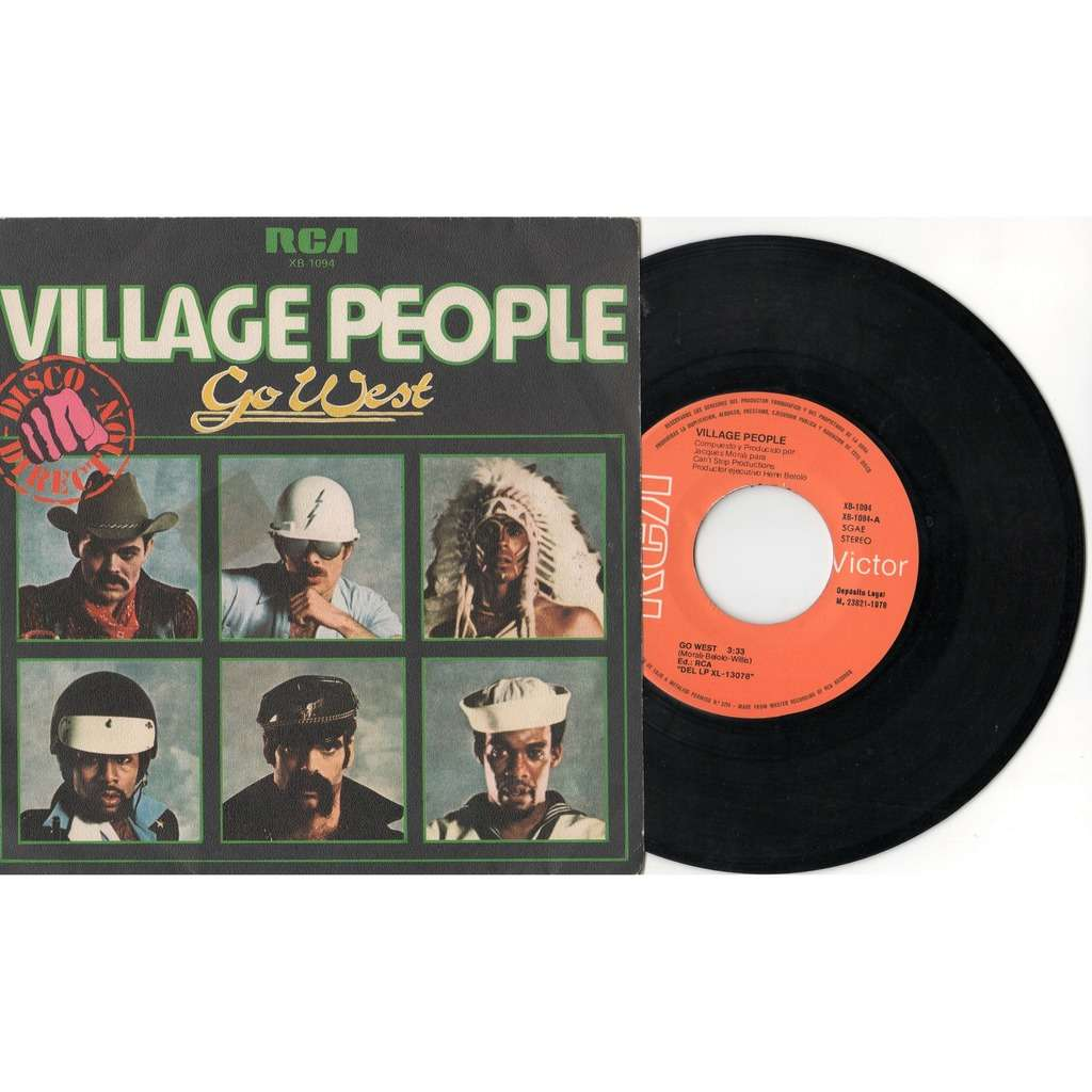 Village People Go West (Spanish 1978 2-trk 7single full ps)