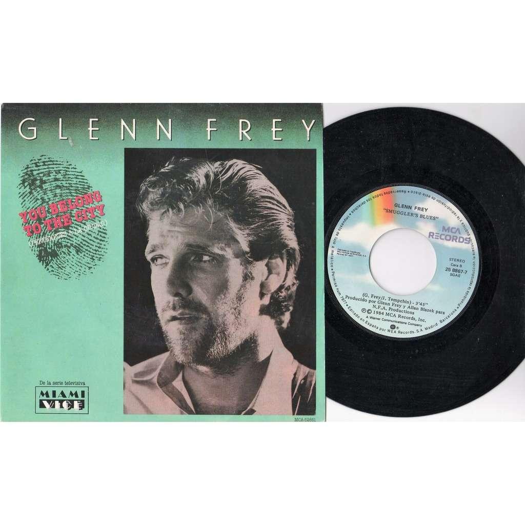 Glenn Frey Perteneces A La Ciudad (Spanish 1984 'Miami Vice' TV Series 2-trk 7single unique spanish titles ps)