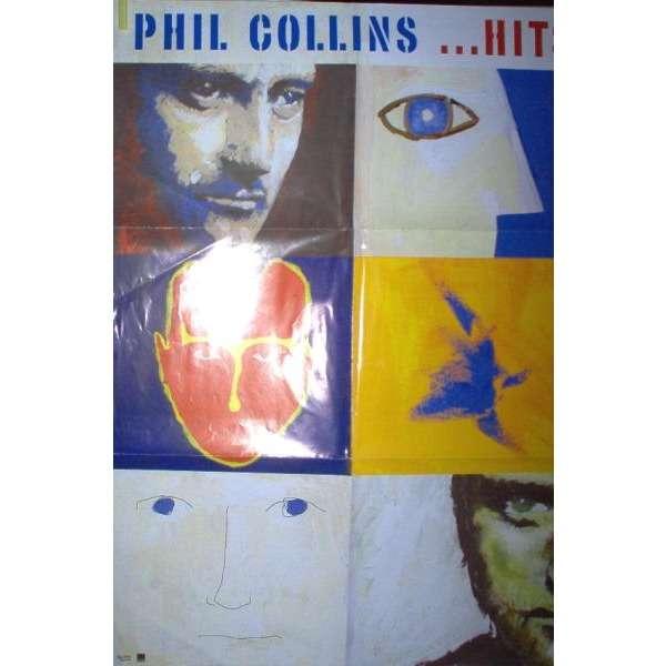Genesis / Phil Collins ....Hits (Italian 1998 original Wea 'album release' promo Shop poster!!)