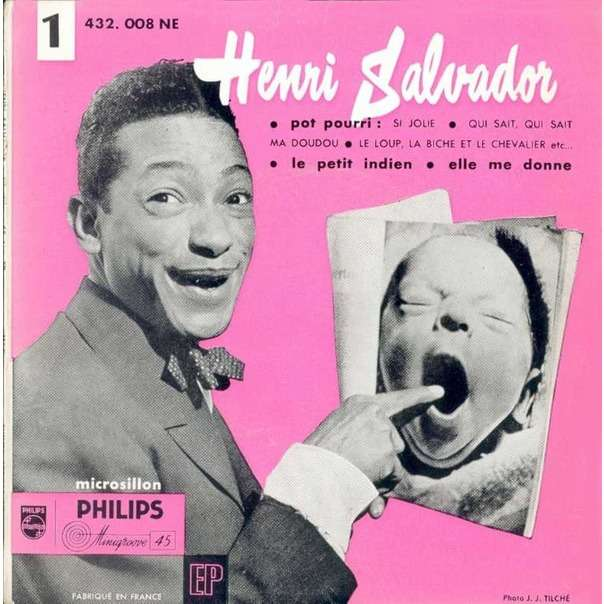 Henri SALVADOR 1er EP - Pot Pourri / Le Petit Indien / Elle me donne (1955 - original French press - Fleepback)