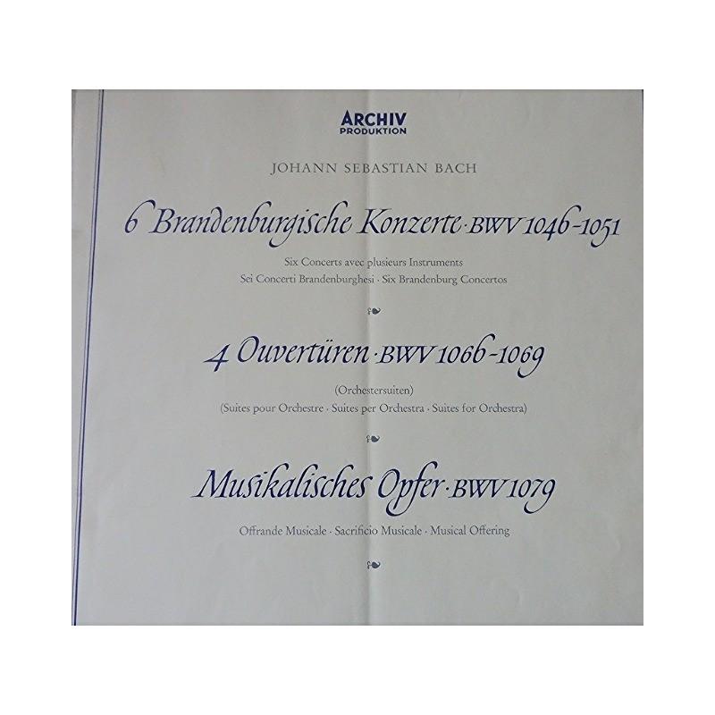 johann sebastian bach - rudolf baumgartner 6 brandenburgische Konzerte ( 6 concerts avec plusieurs instruments)/ouverturen /musikalisches opfer