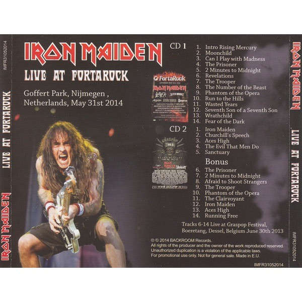 Iron Maiden Live At Fortarock (2xcd)