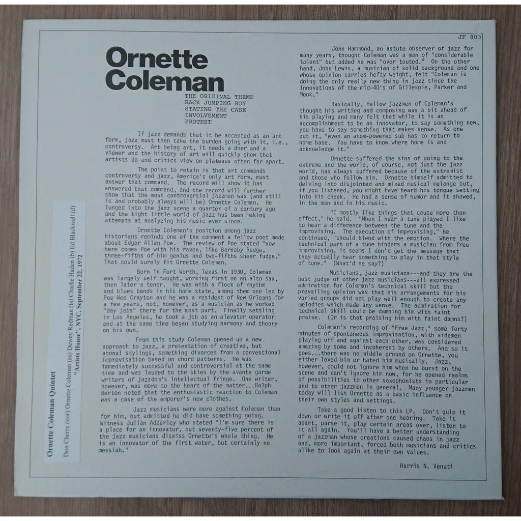 ornette coleman Broadcasts