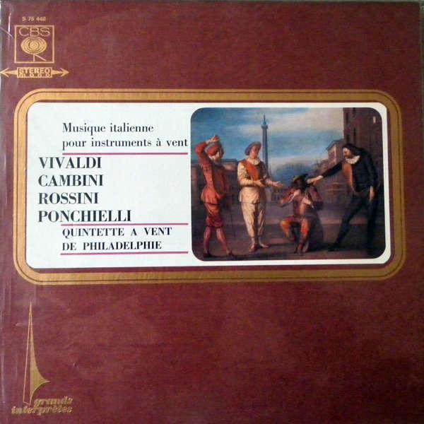 Quintette à vent de philadelphie Musique italienne pour instruments à vent