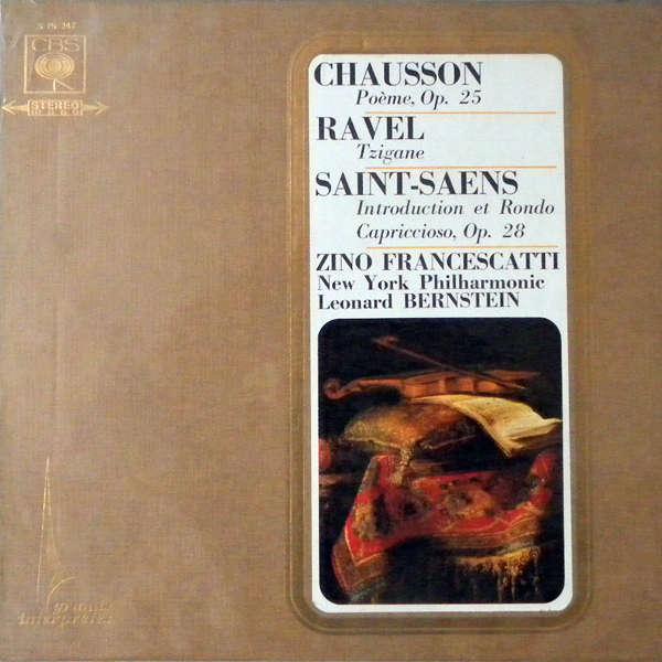 zino francescatti Chausson - Ravel - Saint-Saëns