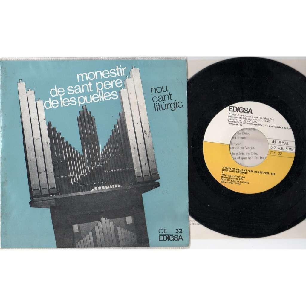 Monestir De Sant Pere De Les Puelles Nou Cant Liturgic (Spanish 1968 4-trk 7ep full ps+insert!!)