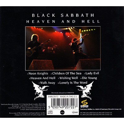 heaven and hell black sabbath cd ledotakas id 118352648. Black Bedroom Furniture Sets. Home Design Ideas