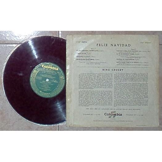 Bing Crosby Feliz Navidad (Spanish 50s original 8-trk 10LP unique ps)