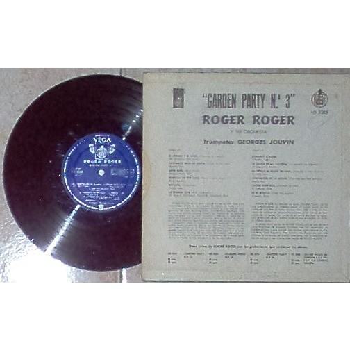 Roger Roger Y Su Orquestra Garden Party N.3 (Spanish 50s original 12-trk 10LP front laminated flipback ps)