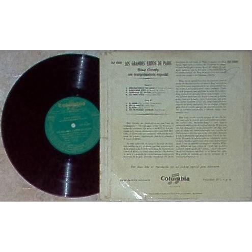 Bing Crosby Los Grandes Exitos De Paris (Spanish 1953 original 8-trk 10LP unique spanish titles ps)