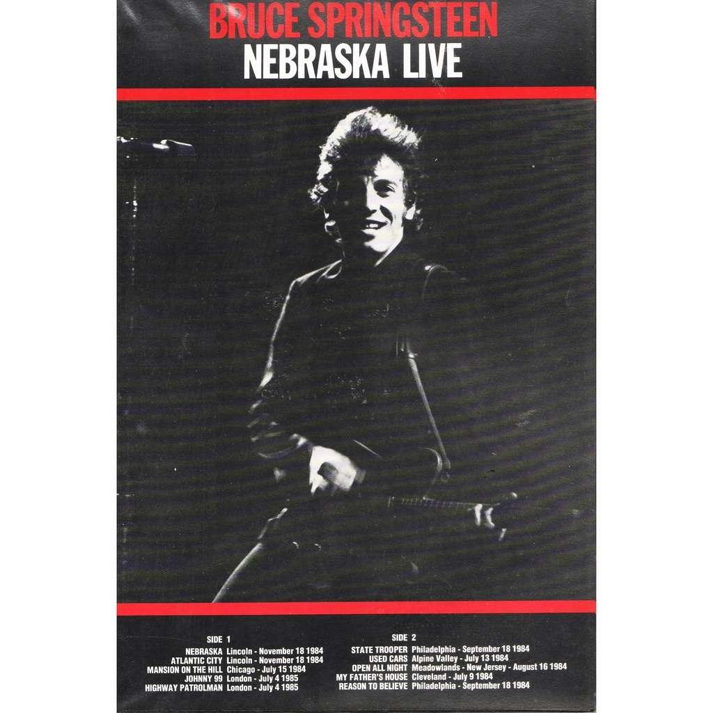 Bruce Springsteen Nebraska Live (Euro original 90s insert for vinyl LP release!!)