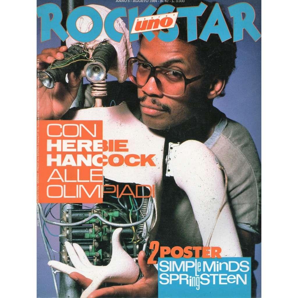 Herbie Hancock Rockstar (Aug. 1984) (Italian 1984 Herbie Hancock front cover magazine)