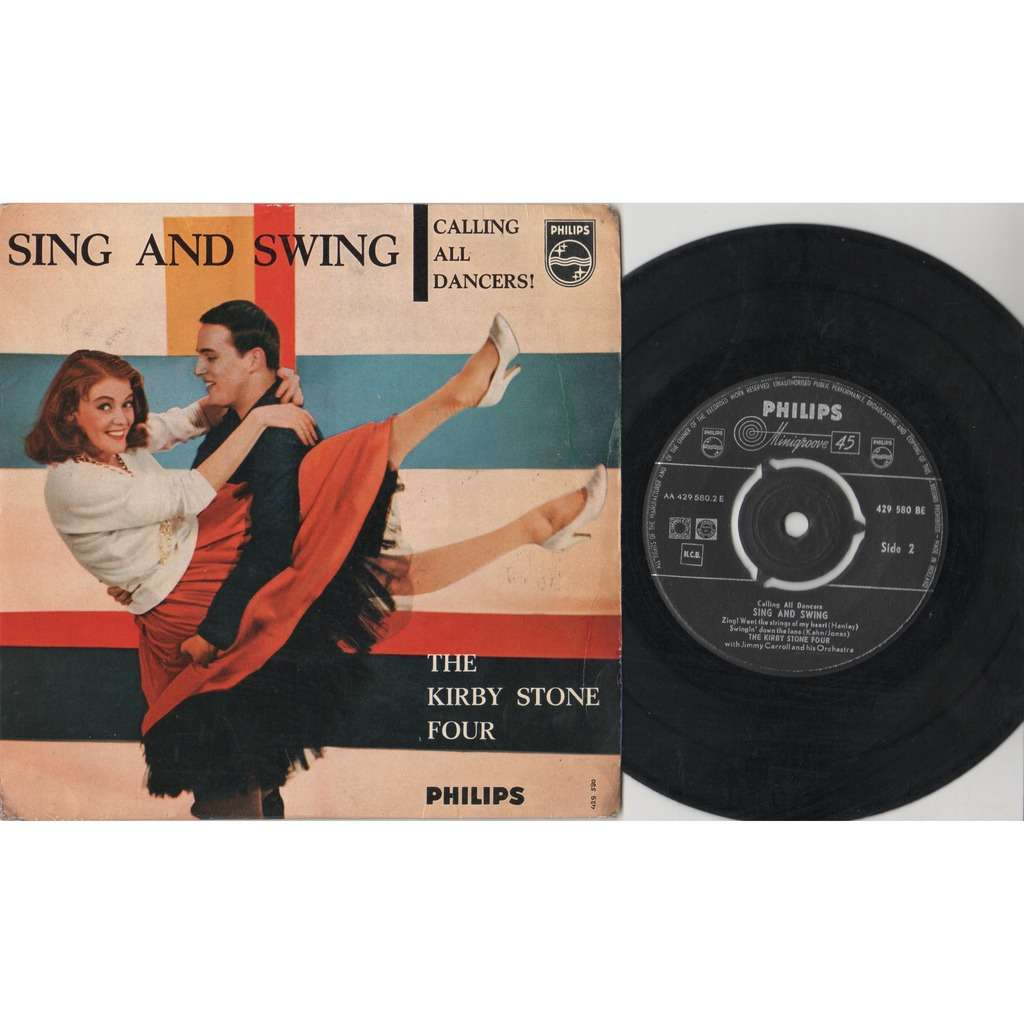 Kirby Stone Four Sing And Swing (Holland 1959 original 4-trk 7ep full ps)