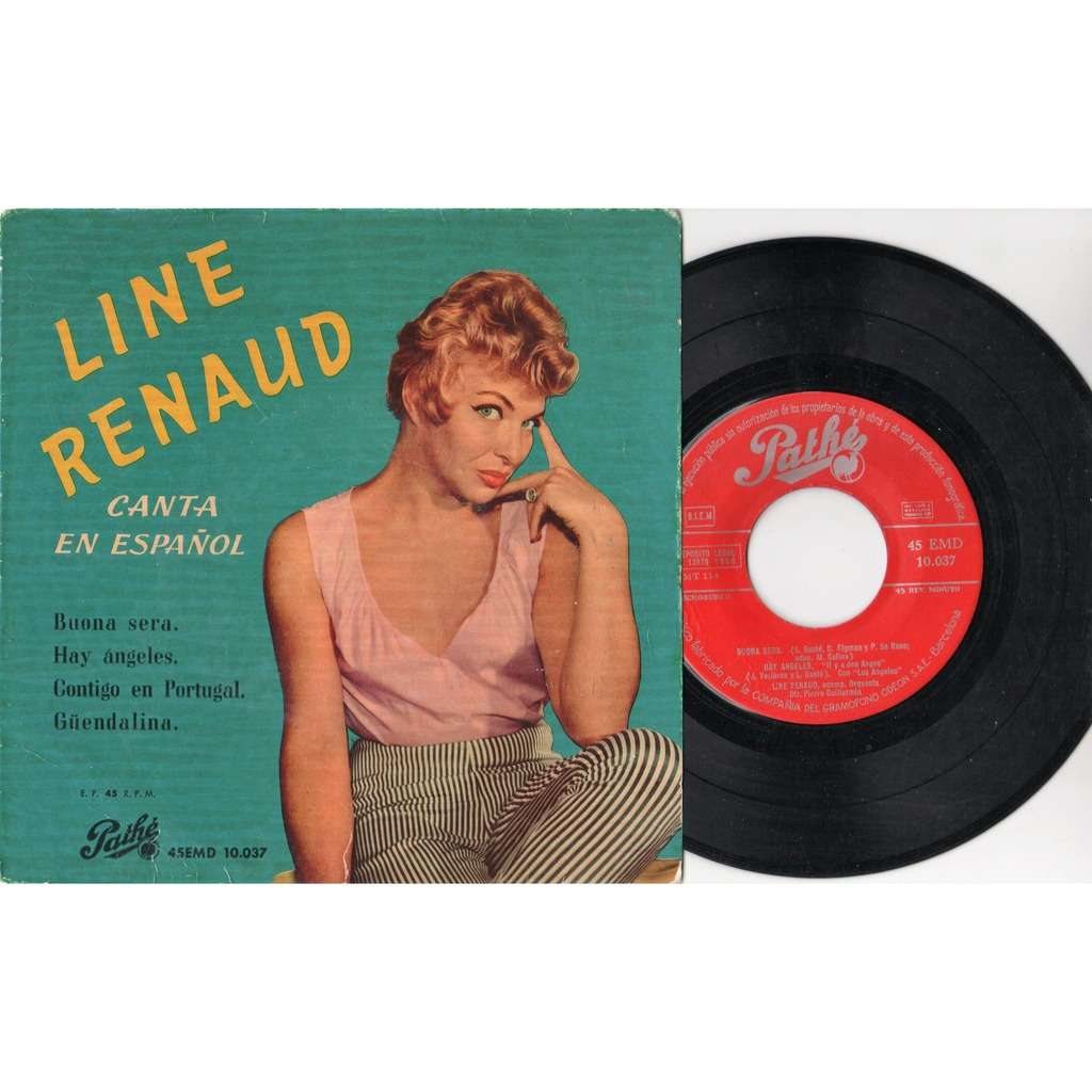 Line Renaud Canta En Espanol (Spanish 1958 original 4-trk 7ep full great ps)