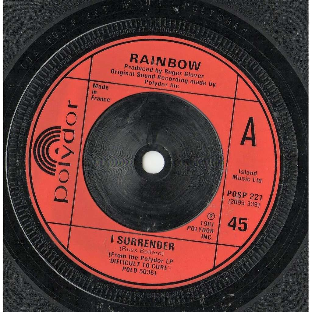 Deep Purple / rainbow I Surrender (French 1981 2-trk 7single on Polydor red injection lbl)