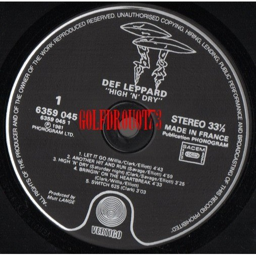High 'n' dry by Def Leppard, LP with golfdrouot73