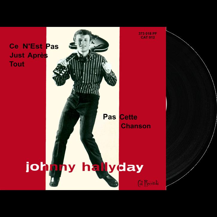 johnny hallyday 45t vinyl NOIR Ce n'est pas juste apres tout (Italie) Collection étrangère Volume 2