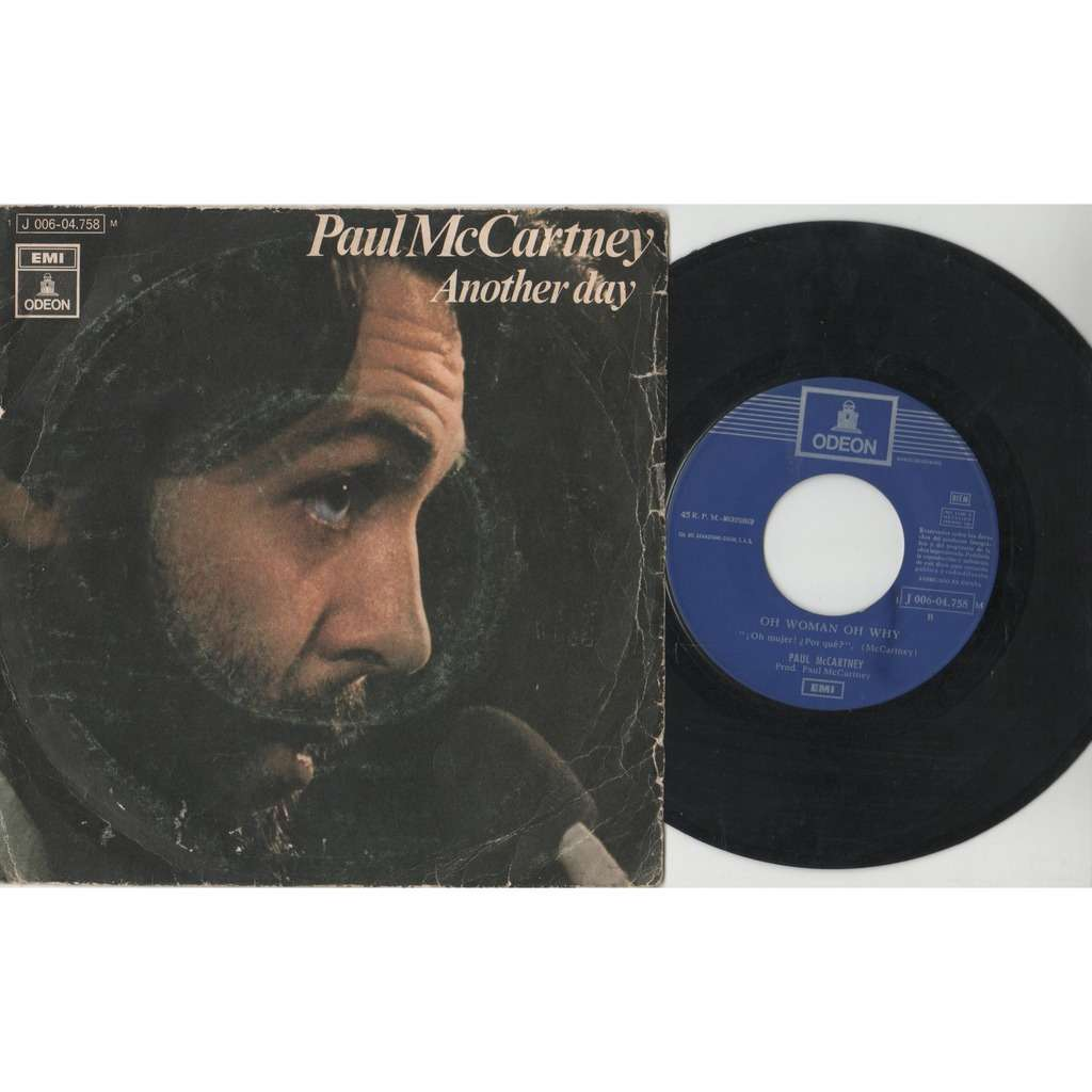 beatles / Paul McCartney Another Day (Spanish 1971 2-trk 7single unique ps)