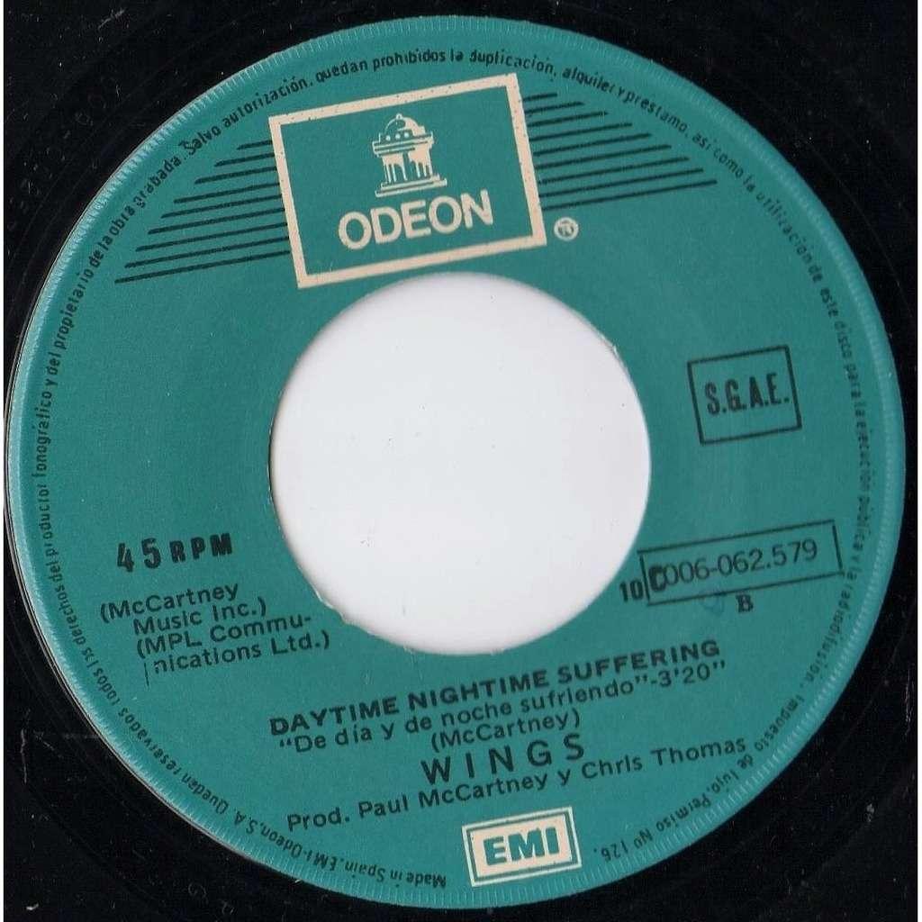 Beatles / Paul McCartney / Wings Adios A La Noche (Spanish 1979 2-trk 7single on Odeon spanish titles lbl)