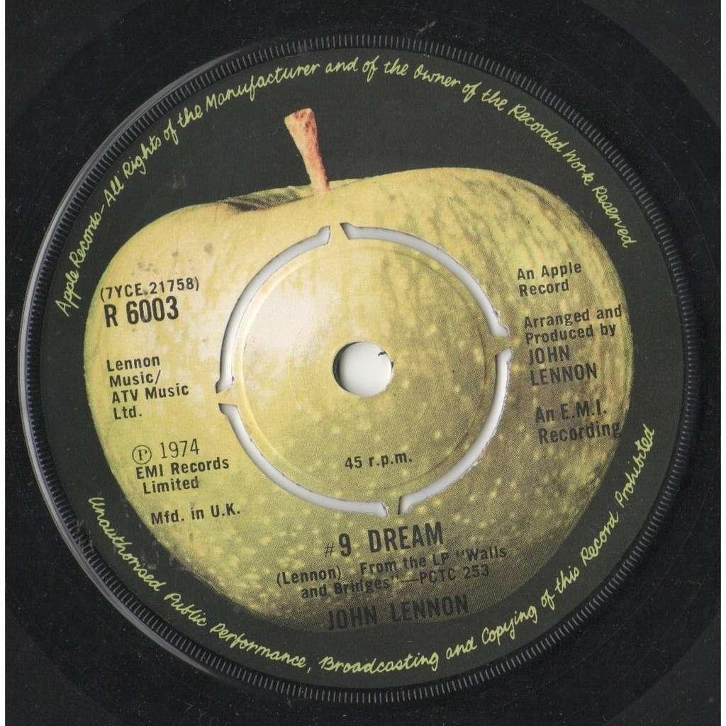 Beatles / John Lennon #9 Dream (UK 1974 2-trk 7single on Apple lbl)